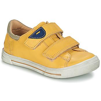 Chaussures Garçon Boots GBB SEBASTIEN VTE JAUNE DPF/SNOW