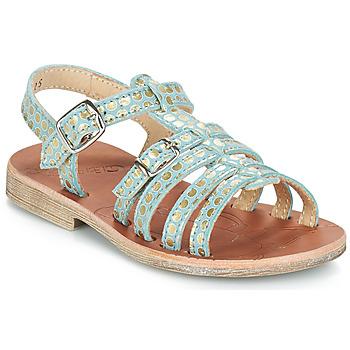 Chaussures Fille Sandales et Nu-pieds GBB BANGKOK vert / Doré