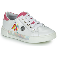 Chaussures Fille Baskets montantes Catimini SYLPHE VTE BLANC-ROSE DPF/BLANC