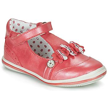 Chaussures Fille Ballerines / babies Catimini SANTOLINE VTE ROUGE NACRE DPF/2851