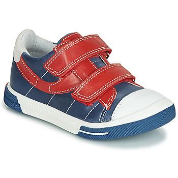 Chaussures Garçon Baskets basses Catimini SORBIER Bleu / Rouge