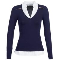Vêtements Femme Pulls Morgan MYLORD Bleu / Blanc