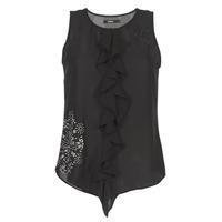 Vêtements Femme Débardeurs / T-shirts sans manche Desigual POALDAOR Noir
