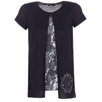 Vêtements Femme T-shirts manches courtes Desigual NUTILAD Noir