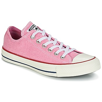Chaussures Femme Baskets basses Converse CHUCK TAYLOR ALL STAR HI STONE WASH Rose