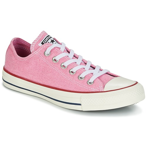 5f1c76b80e626 Chaussures Femme Baskets basses Converse CHUCK TAYLOR ALL STAR HI STONE  WASH Rose