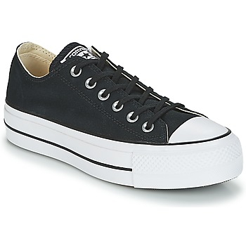 Chaussures Femme Baskets basses Converse CHUCK TAYLOR ALL STAR LIFT CLEAN OX CORE CANVAS Noir