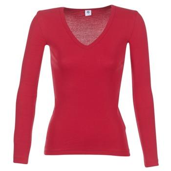 Vêtements Femme T-shirts manches longues Petit Bateau  Rouge