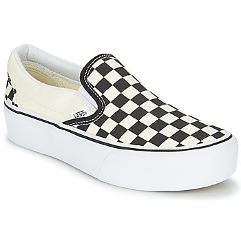 Chaussures Femme Slip ons Vans SLIP-ON PLATFORM Noir / Blanc