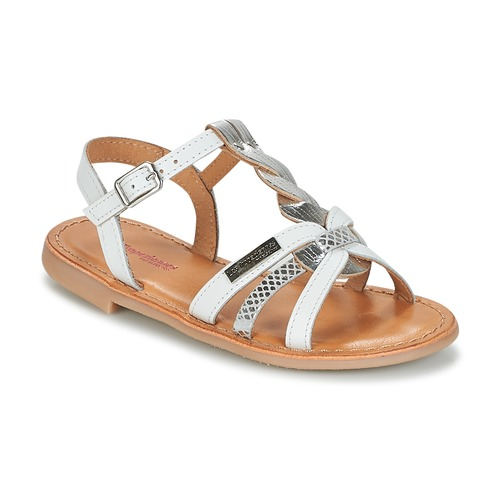 Chaussures Fille Sandales et Nu-pieds Les Tropéziennes par M Belarbi BADAMI Blanc / Argenté