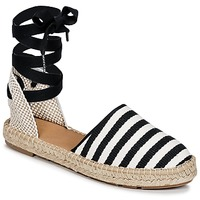 Chaussures Femme Espadrilles Betty London INANO Noir / blanc