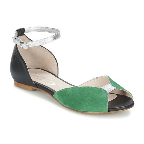 34085b243bf8 Chaussures Femme Sandales et Nu-pieds Betty London INALI Noir / Argent /  Vert