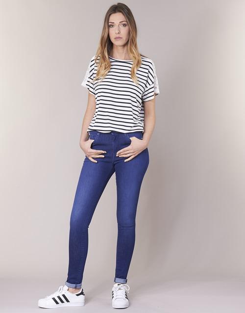 Vêtements Femme Jeans skinny Pepe jeans REGENT Bleu CE2 / Cristaux Swarorsky
