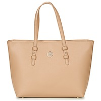 Sacs Femme Cabas / Sacs shopping Tommy Hilfiger TH SIGNATURE STRAP TOTE Beige