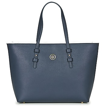 Sacs Femme Cabas / Sacs shopping Tommy Hilfiger TH SIGNATURE STRAP TOTE Marine / Blanc / Rouge