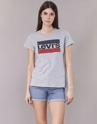 Vêtements Femme T-shirts manches courtes Levi's THE PERFECT TEE Gris