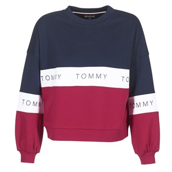 Vêtements Femme Sweats Tommy Jeans TJW COLOR BLOCK CN Marine / Rouge / Blanc
