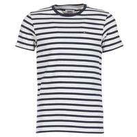 Vêtements Homme T-shirts manches courtes Tommy Jeans TJM REG STRIPE CN KNIT S/S 15 Marine / Gris chiné