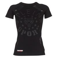 Vêtements Femme T-shirts manches courtes Philipp Plein Sport FORMA LINEA Noir