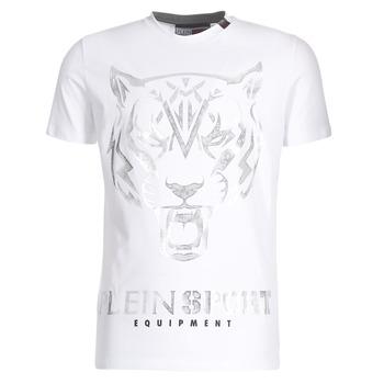 Vêtements Homme T-shirts manches courtes Philipp Plein Sport EDBERG Blanc / Argenté