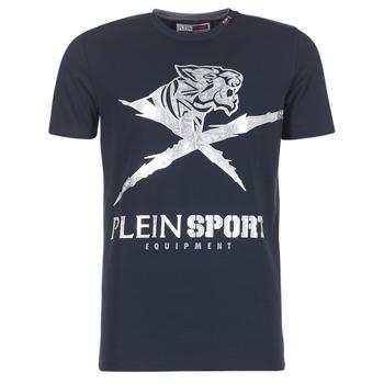 Vêtements Homme T-shirts manches courtes Philipp Plein Sport BORIS Marine / Argenté