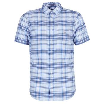 Vêtements Homme Chemises manches courtes Gant BLUE PACK MADRAS REG Bleu