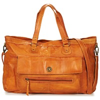 Sacs Femme Sacs porté épaule Pieces TOTALLY ROYAL LEATHER TRAVEL BAG Cognac