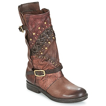 Chaussures Femme Boots Airstep / A.S.98 VERTI Choco Amaranto