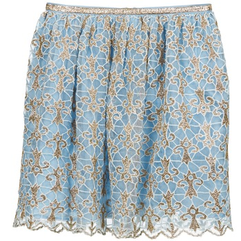 Vêtements Femme Jupes Manoush ARABESQUE Bleu / Or