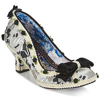 Chaussures Femme Escarpins Irregular Choice BISH BASH BOW Argenté / Noir