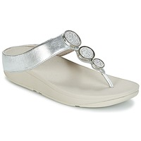 Chaussures Femme Tongs FitFlop HALO TOE THONG SANDALS Argenté
