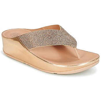 Chaussures Femme Tongs FitFlop CRYSTALL Rose Gold