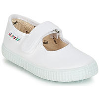 Chaussures Fille Baskets basses Victoria MERCEDES VELCRO LONA Blanc