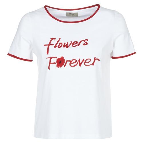 Vêtements Femme T-shirts manches courtes Betty London INNATIMBI Blanc / Rouge