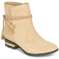 Chaussures Femme Boots Sorel Farah Short Beige