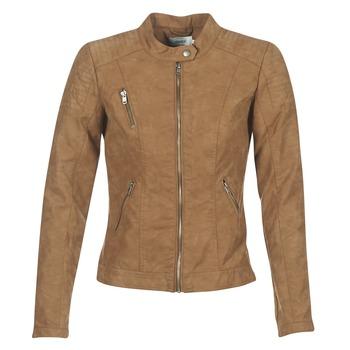 Vêtements Femme Vestes en cuir / synthétiques Only STEADY Cognac