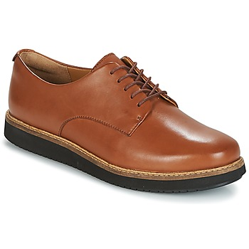 Chaussures Femme Derbies Clarks GLICK DARBY Dark Tan Lea