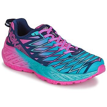 Chaussures Femme Running / trail Hoka one one W CLAYTON 2 Bleu / Rose