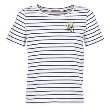 Vêtements Femme T-shirts manches courtes Betty London INNAMOU Blanc / Marine