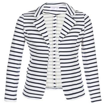 Vêtements Femme Vestes / Blazers Moony Mood IFAROUCHE Blanc / Marine