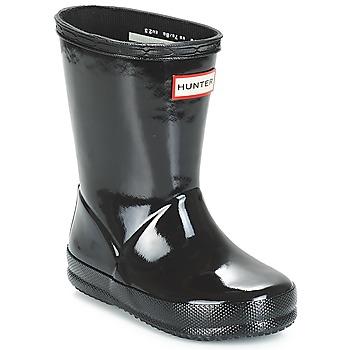 Chaussures Fille Bottes de pluie Hunter KIDS FIRST CLASSIC GLOSS Noir