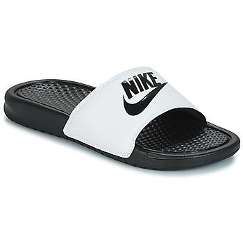 Chaussures Homme Claquettes Nike BENASSI JUST DO IT Blanc / Noir
