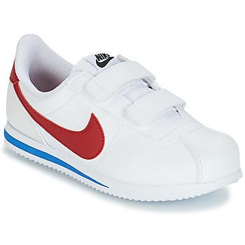 Chaussures Garçon Baskets basses Nike CORTEZ BASIC PRE-SCHOOL Blanc / Bleu / Rouge