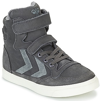 Chaussures Enfant Baskets montantes Hummel STADIL OILED HIGH JR Gris