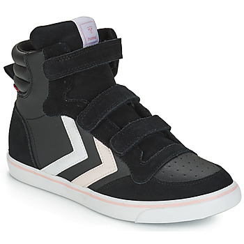Chaussures Fille Baskets montantes Hummel STADIL LEATHER JR Noir