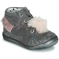 Chaussures Fille Baskets montantes Catimini PEPITA Gris / Rose