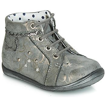 Chaussures Fille Baskets montantes Catimini FANETTE VTE GRIS-MARBRE OR DPF/GLUCK