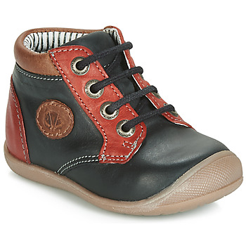 Chaussures Garçon Baskets montantes Catimini RAYMOND VTU NOIR-ROUGE DPF/KIMBO