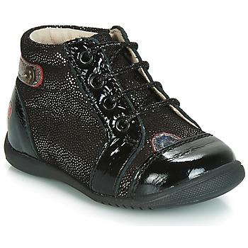 Chaussures Fille Baskets montantes GBB NICOLE Noir pailleté