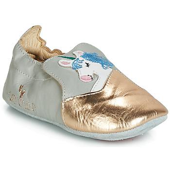 Chaussures Fille Chaussons Catimini LICORNETTE Gris / Doré